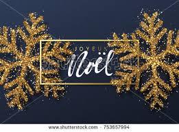 joyeux noel christmas cards christmas background shining gold snowflakes stock vector