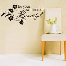 compare prices on flower wall decorations online shopping buy low diy be your own kind of beautiful quotes vinyl wall sticker modern home decal flower wall