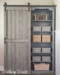 Bookcase With Doors Bookcase Makeover Traditional Cherry To Farmhouse Fab