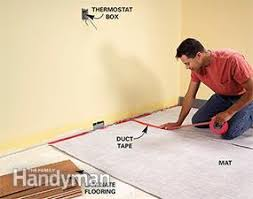 can you put radiant heat under laminate flooring electric vs hydronic radiant heat systems family handyman