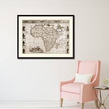 africa vintage sepia map home decor wall art bedroom liviingroom