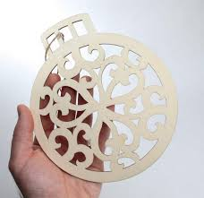 unfinished wood laser cut christmas ornament wood cutouts