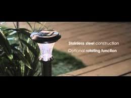 paradise rotating solar lights paradise garden lighting solar rotating bollard youtube