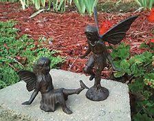 cast iron rearing garden statue yard ornament decorative