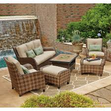 Small Patio Furniture Set by Decorating Small Outdoor Sectional Sofa With Coffee Table And
