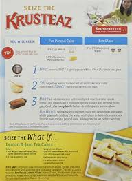 amazon com krusteaz meyer lemon pound cake mix 16 5oz box