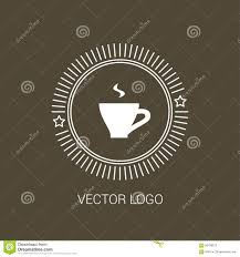 line coffee cup design logos and icons elements stock vector