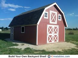 16x24 gambrel shed by icreatables com the perfect small barn plan