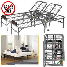 Adjustable Bed Base King King Size Electric Adjustable Lift Bed Frame Head Remote Control