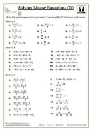 solving equations maths worksheet geeky pinterest solving