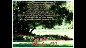 come before him with thanksgiving psalm 100 youtube