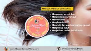 Masker Rambut Ginseng masker rambut kering masker rambut kering alami masker rambut