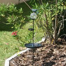 flower pot solar light smart solar aquarius birdbath stake with glass orb solar powered