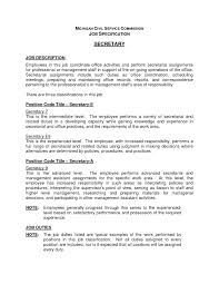 Unit Secretary Cover Letter Secretary Duties On Resume Resume For Your Job Application