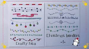 christmas border writing paper borders and frames designs borders for christmas cards school borders for christmas cards school projects decoration ideas 1 youtube