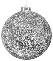 silver ornaments happy holidays