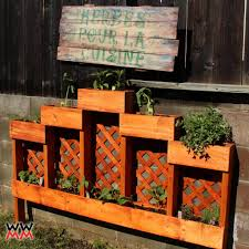 herb garden planter box garden awesome image of garden landscaping decoration using light