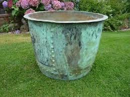 large outdoor planters large plant pot large copper copper