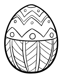 detailed easter egg coloring pages u2013 color bros