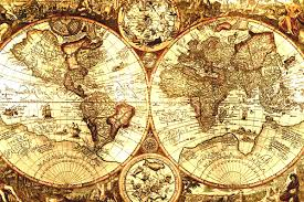 Map With Compass Vintage World Map With Compass Maps On Pinterest Nautical Chart