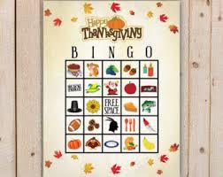 thanksgiving bingo etsy