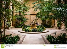 indoor garden area in the national gallery of art in washington