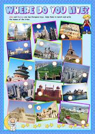 59 free esl cities worksheets