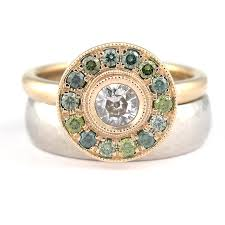 green diamonds rings images Halo engagement rings made you look jewellery jpg