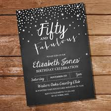 50th birthday invitations for her modern templates invitations