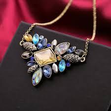 rhinestone pendant necklace images Exquisite rhinestone pendant necklace style pulse jpg