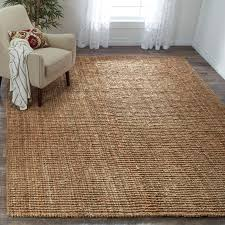 how big should my area rug be safavieh casual natural jute hand woven chunky thick rug 8 u0027 x 10