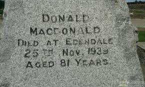 Donald Macdonald by Grave Site Of Donald Macdonald 1939 Billiongraves