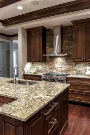 modern kitchen with brown cabinets customkitchencabinets wood kitchen cabinets rustic