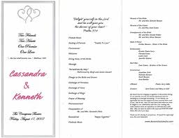 wedding program outline template wedding ceremony program template best business template