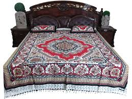amazon com bed sheet indian print 100 cotton bed cover ethnic