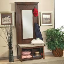entryway mirror with storage shoe bench entryway coat rack
