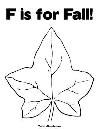 printable leaf shapes kids coloring