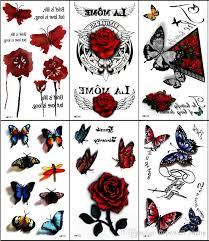 tattoo decal paper buy temporary tattoo sticker colorful butterfly rose 3d tattoo tatuagem