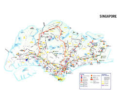 Singapore Mrt Map Maps Of Singapore Detailed Map Of Singapore In English Tourist