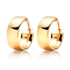 gold hoop earrings uk 9ct gold hoop earrings 0007118 beaverbrooks the jewellers