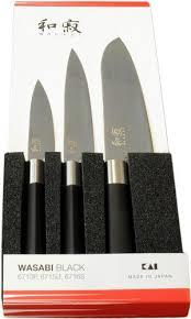 coffret couteaux cuisine coffret de 3 couteaux japonais wasabi black