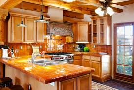 Southwestern Kitchen Cabinets Kitchen With Terracotta Tile Exposed Beam In Corrales Nm