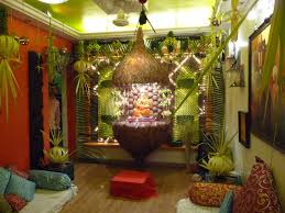 decoration of temple in home interior design cool decoration themes for ganesh festival at