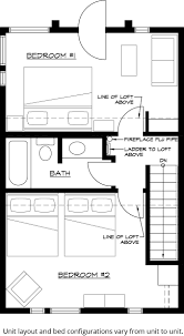 1 Storey Floor Plan by Sea Villas Private Lodging Lutsen Resort
