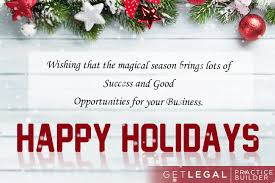 holidays and best wishes for a wonderful new year