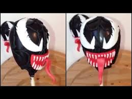 how to make venom from spiderman cakepops youtube