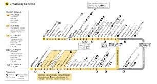 Mta Metro North Map by Nyc Metro Route N Broadway Express Mta Info Mta Nyc R Train Stops