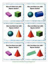 3 dimensional solid figures task cards for common tpt