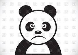 sad sketch of panda vector clipart image 104977 u2013 rfclipart
