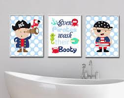 Pirate Bathroom Decor by Wash Their Etsy